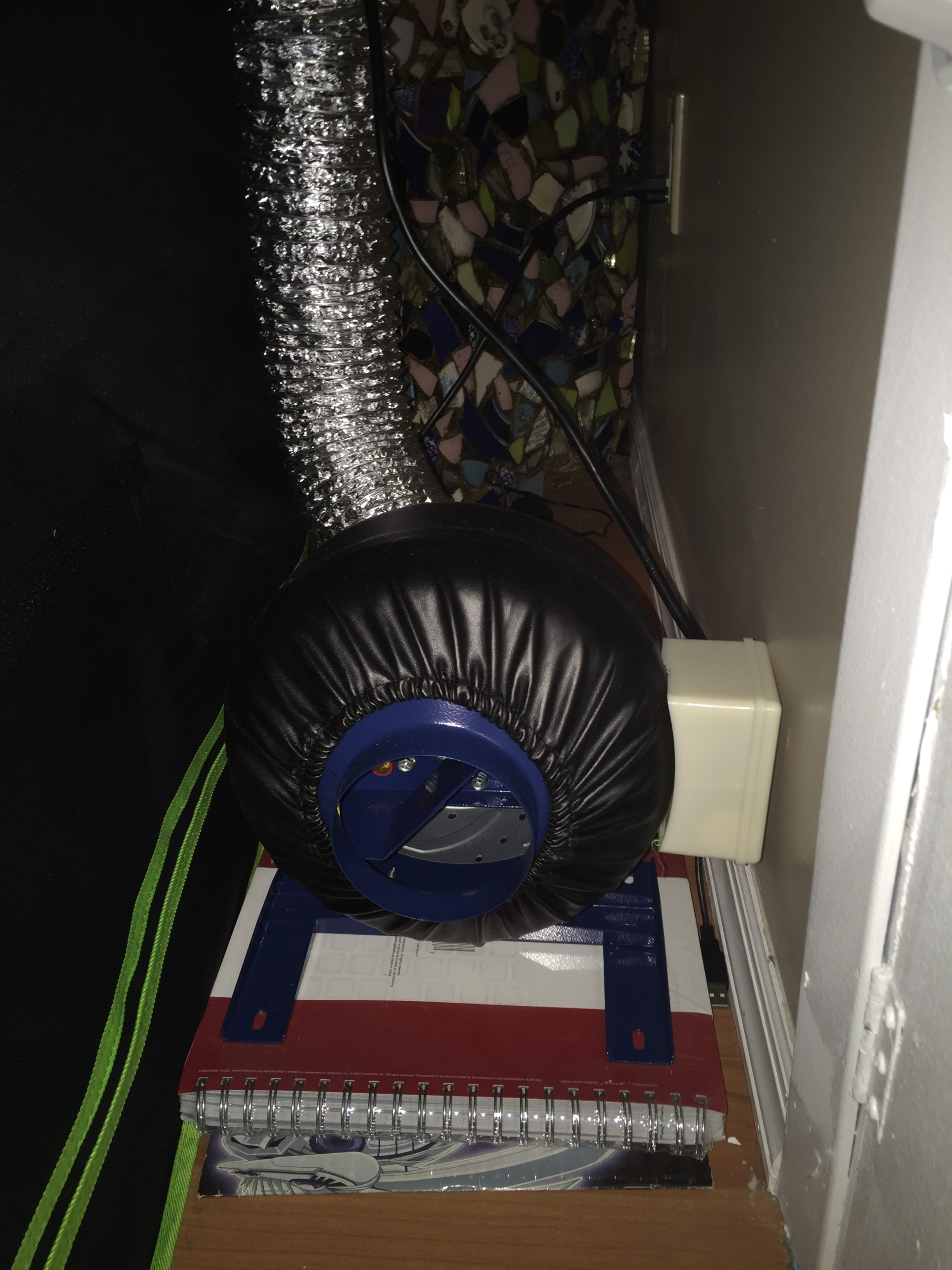 inline fan for carbon air filter